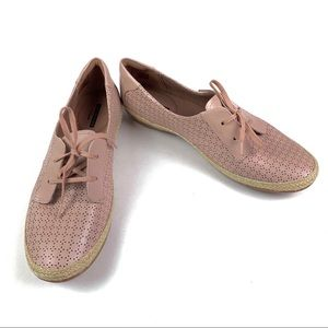 Clark's Soft Collection Pink Espadrille Flats  11